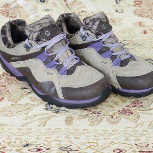 Merrell Fluorecein Hiking Trail Shoe Brown Purple